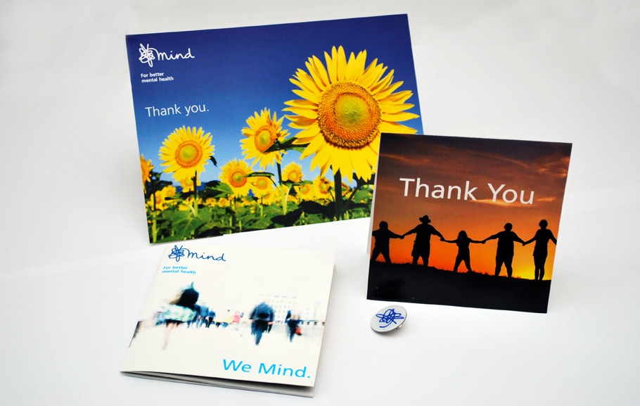 Mind 'Thank you' fundraising pack