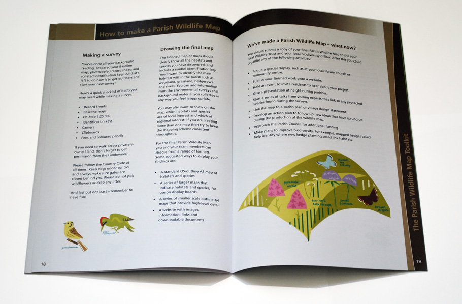 Wildlife toolkit booklet artwork and copywriting